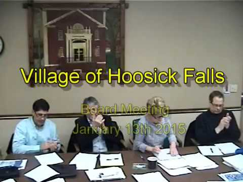 2015 - January 13th Board Meeting - Village of Hoosick Falls