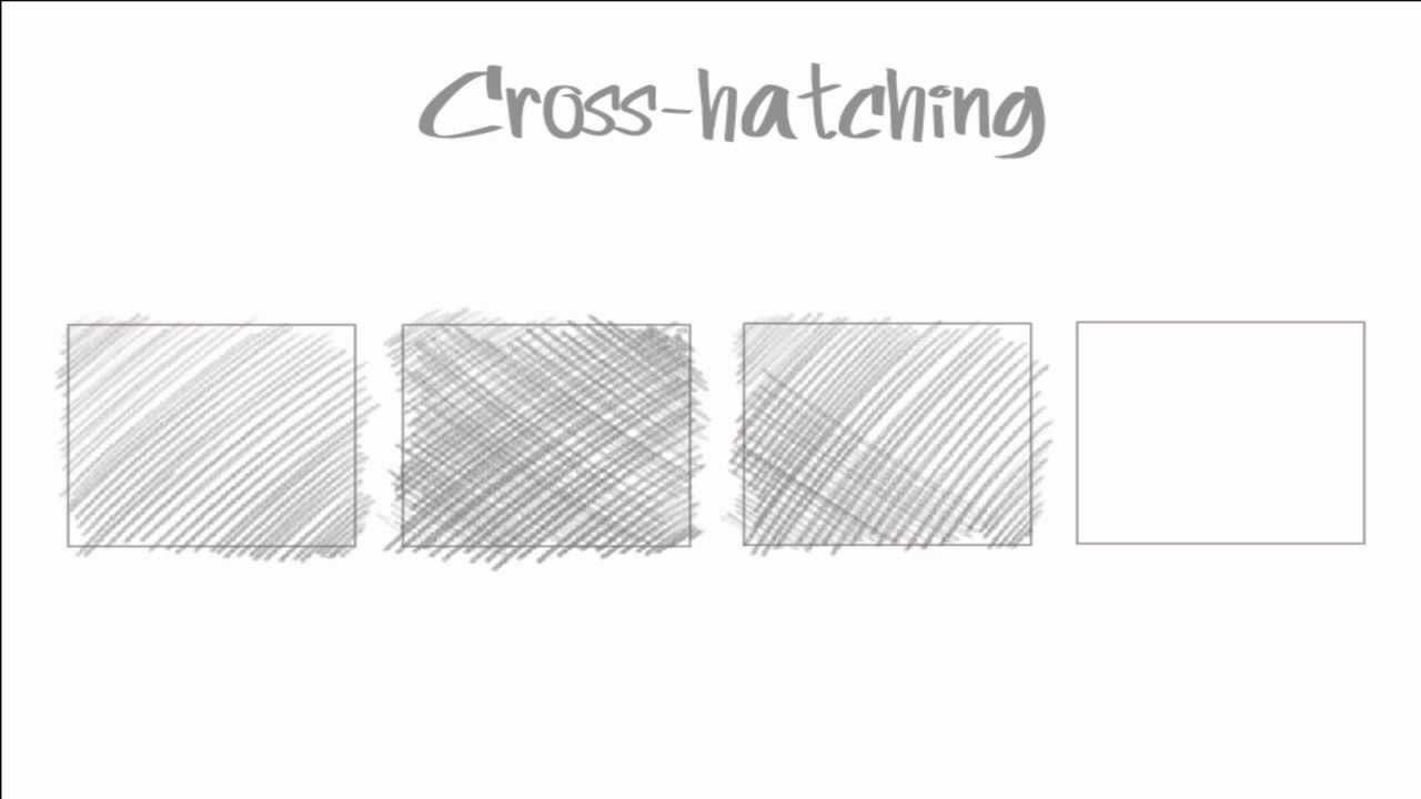 cross hatching drawing tutorial youtube. Black Bedroom Furniture Sets. Home Design Ideas