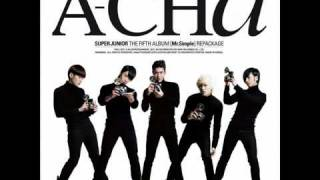 02 Super Junior - A-CHA with lyrics [ Hangul + Romanization ]