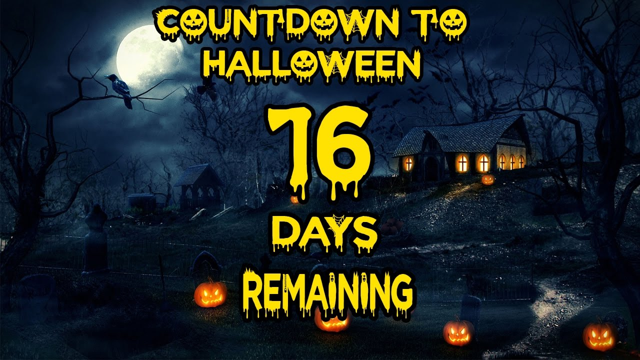halloween countdown - 16 days remaining - youtube