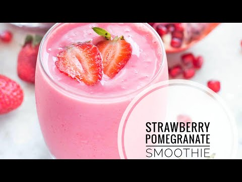 Strawberry Pomegranate Smoothie (Easy and Yummy Healthy Smoothie)