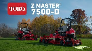 TORO ZMaster 7500D Product Pitch - MainStreetMower