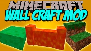 WALL CRAFT MOD - Muros, escaleras y losas de todos los materiales! - Minecraft mod 1.8.9