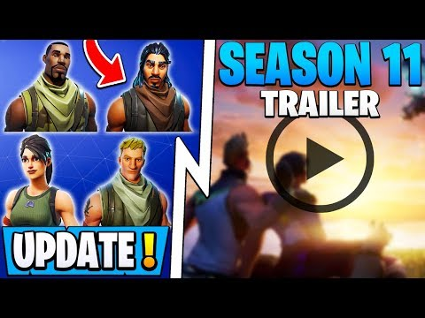 *NEW* Fortnite Update! | Season 11 Trailer, 8 Free Rewards, Bots Announced!