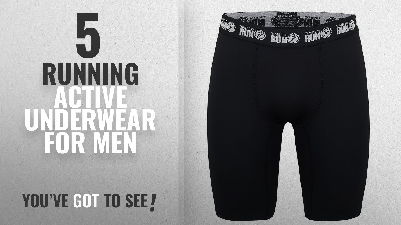 Top 10 Running Active Underwear For Men [2018]: Time to Run Men's Performance Wicking Running