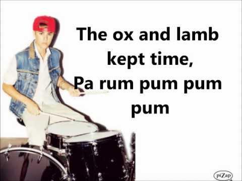 Drummer Boy Justin Bieber Lyrics