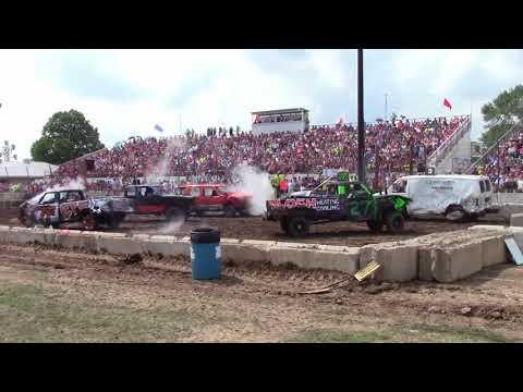 Dodge County Beaver Dam Demo Derby 08/19/2018 Event 1 Fullsize Truck Heat