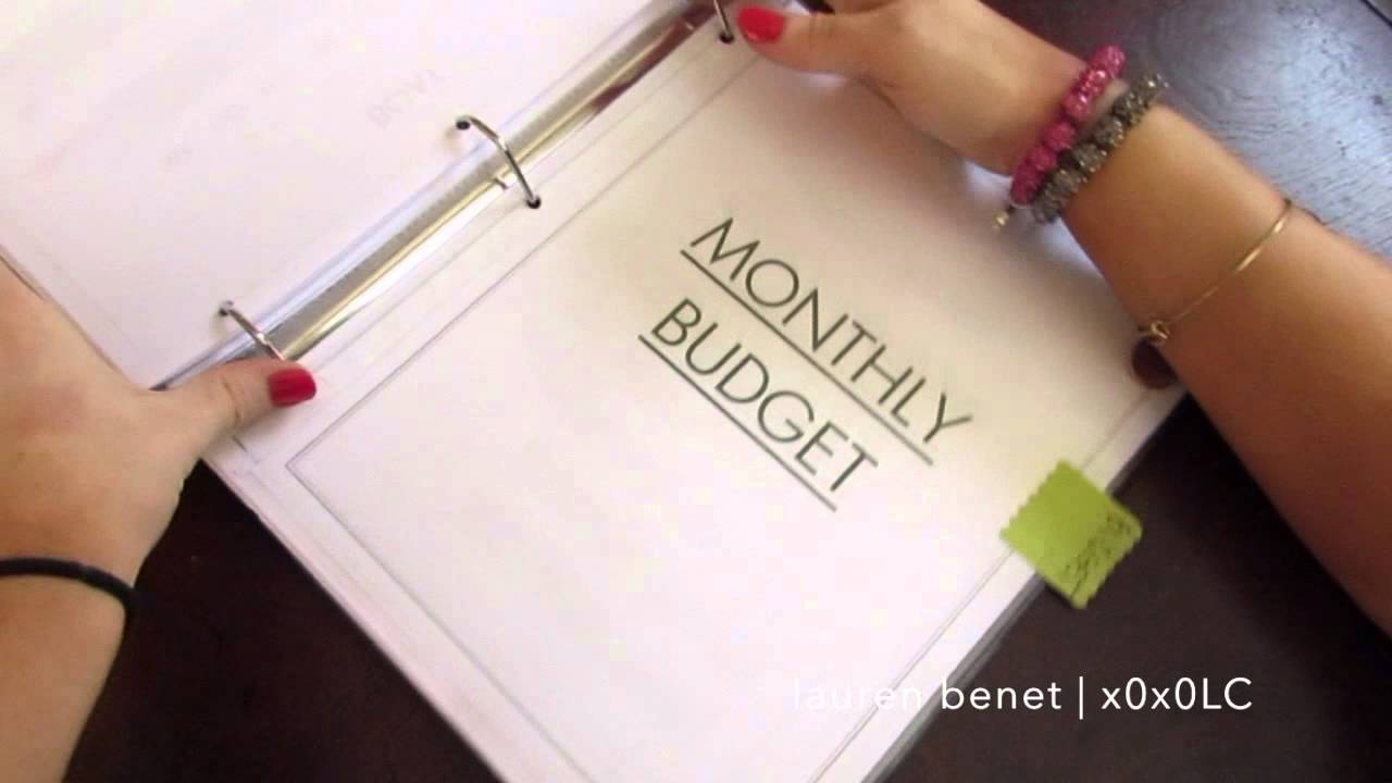 how to make a home management bill budget binder youtube