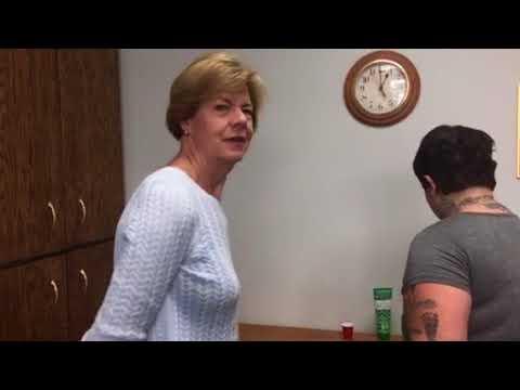 U.S. Senator Tammy Baldwin tours Hidden in Plain Site