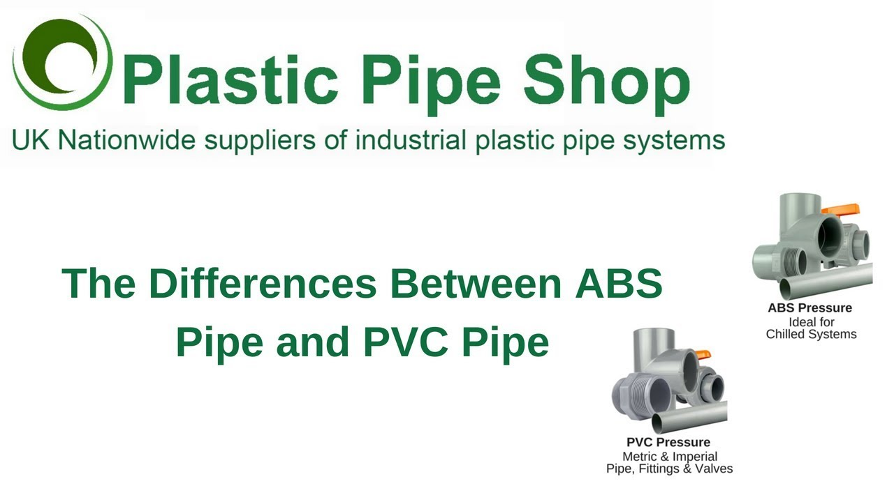 The Differences Between Abs Pipe And Pvc