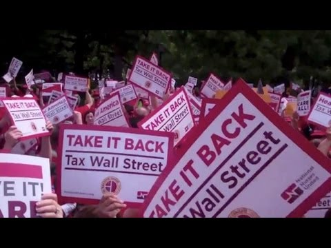 Nurses Hold Actions Across Country Demanding Wall Street Transaction Tax