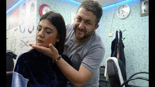 ASMR ENERGY FEMALE MASSAGE : sleep massage : head face arm face massage : bayan kafa sırt kol masajı