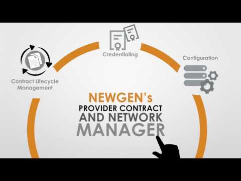 Provider Contract and Network Manager by Newgen Software Inc