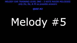 Playing Melodies By Ear - Level One - Quiz #2