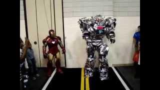 Iron Man Meets 8 Foot KING ROBOTA