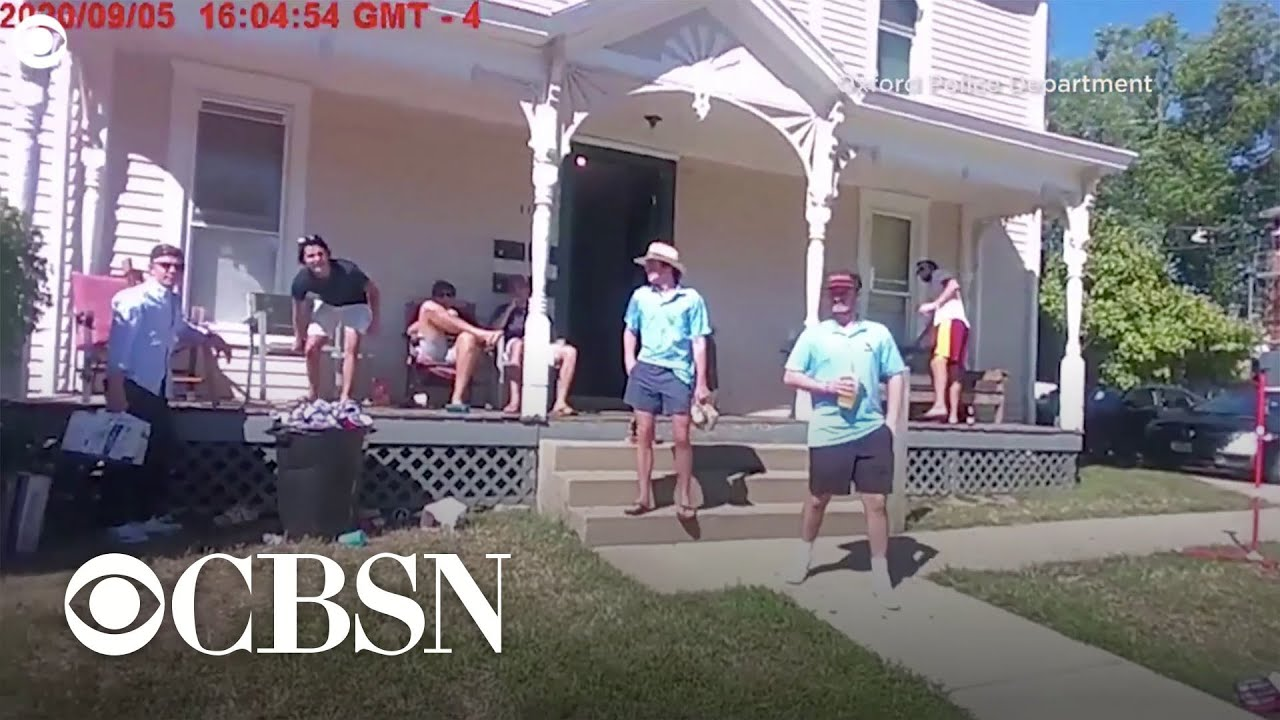 College Students admit in police cam video they tested positive for COVID-19 then had a party