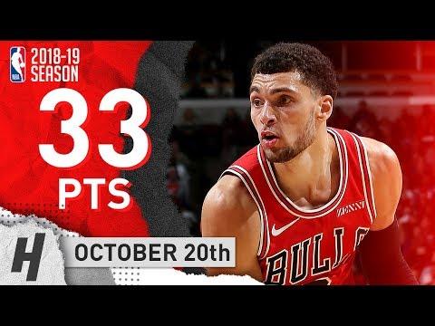 Zach LaVine Full Highlights Bulls vs Pistons 2018.10.20 - 33 Points!