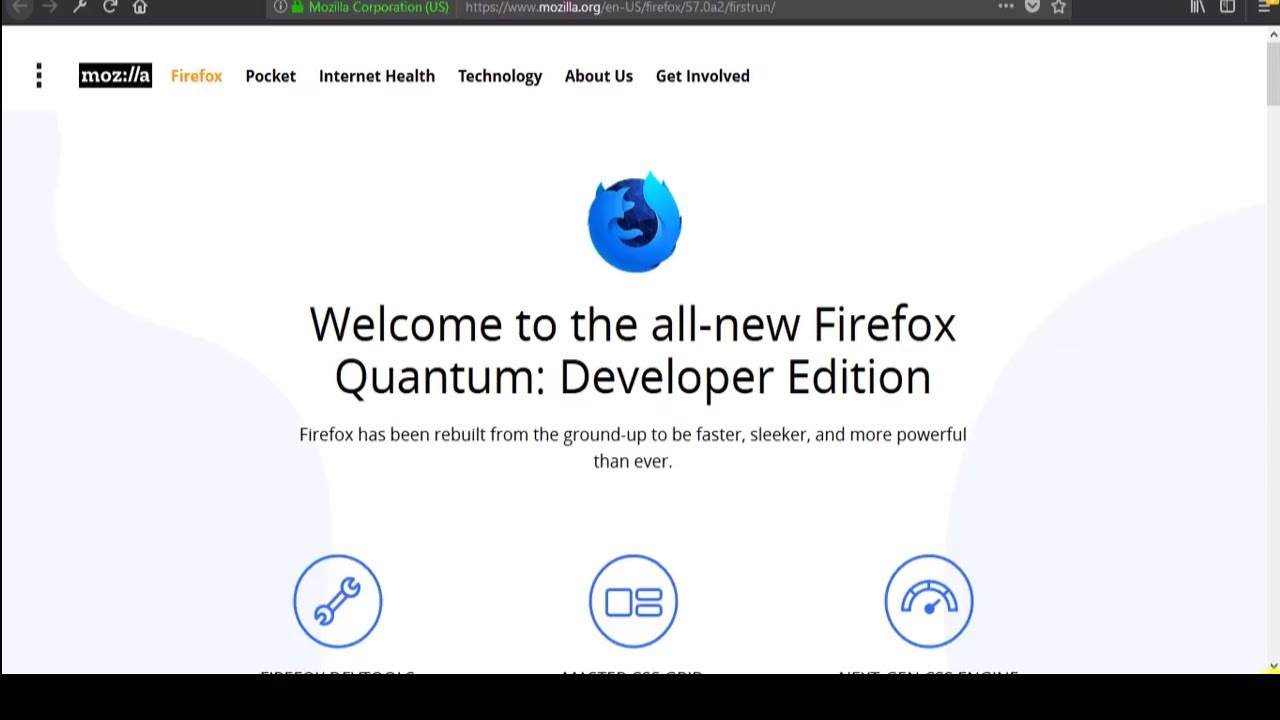 Firefox Developer Edition & Firefox Quantum Updated Download & Install 2017  up to date