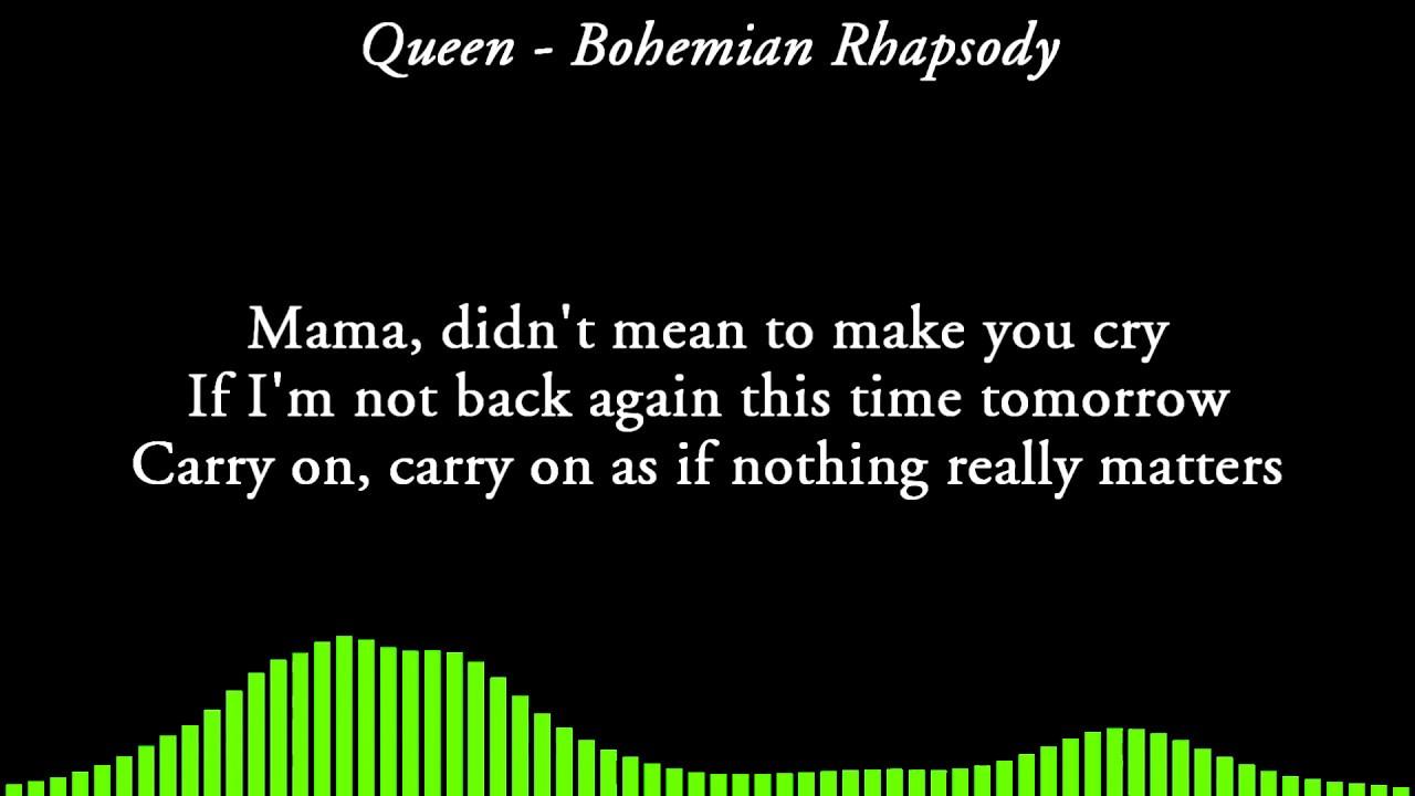Queen - Bohemian Rhapsody [LYRICS] - YouTube