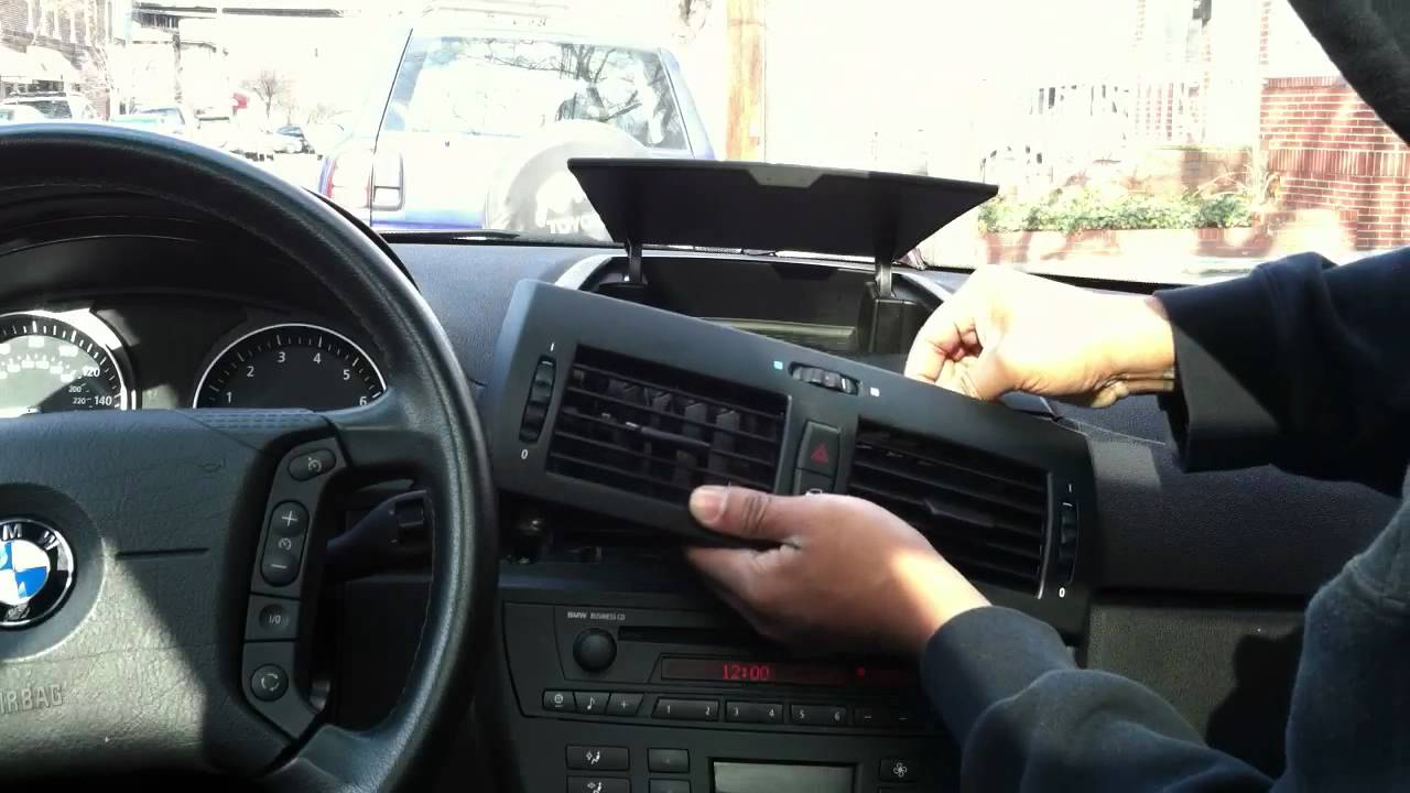 Bmw X3 E83 Radio Reinstallation Youtube