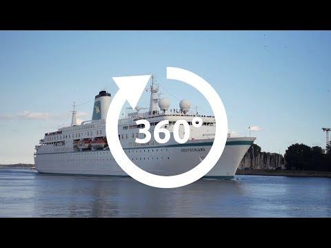 360 Grad Film MS Deutschland (das frühere ZDF Traumschiff)