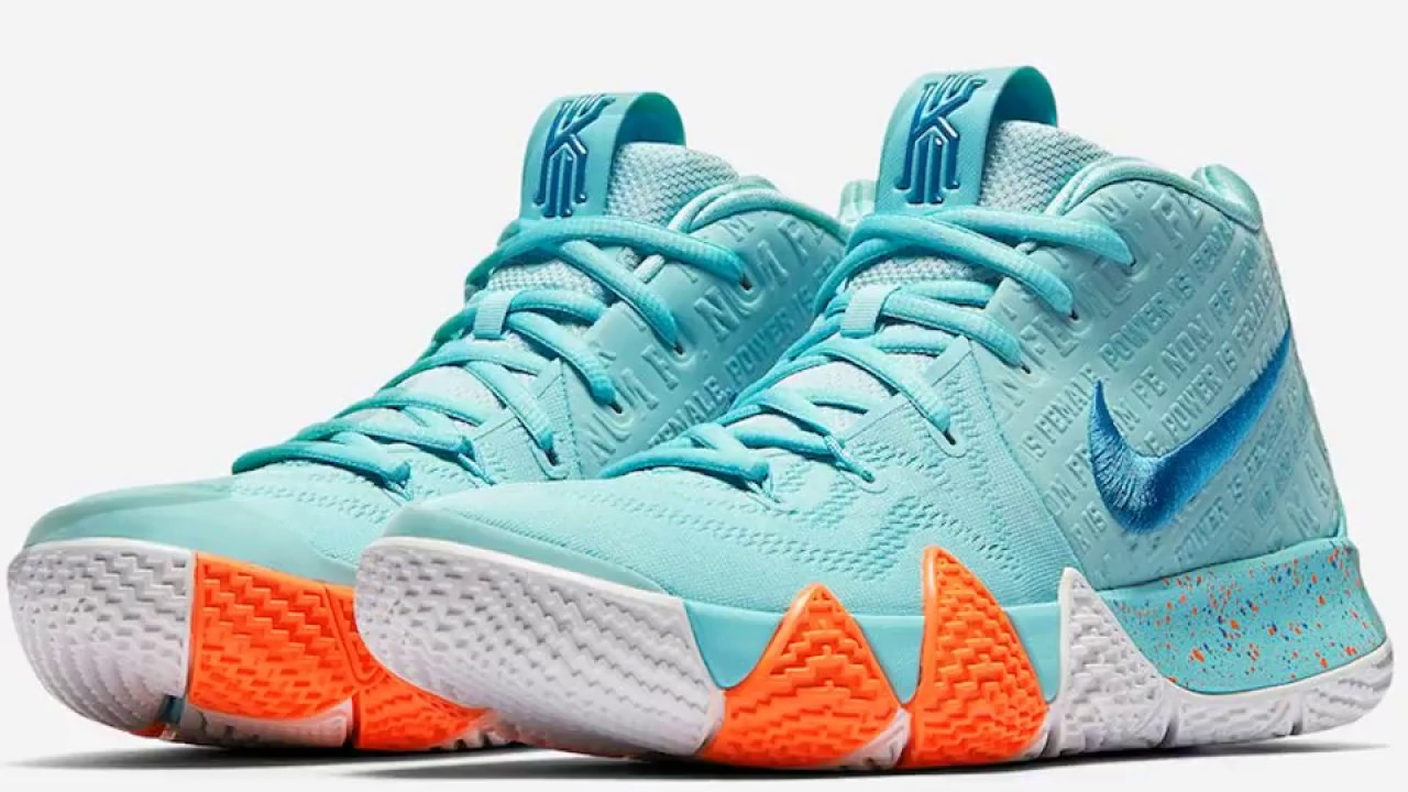 "be8b1985594e Nike Kyrie 4 ""Power Is Female"" Official Images - YouTube"