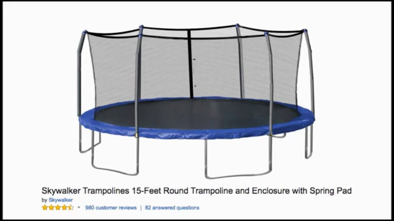 Skywalker Trampoline Review 15 Feet Round You
