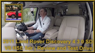 Review and Virtual Video Test Drive In Our 2011 Land Rover Discovery 4 3 0 SD V6 HSE 5dr OY61FKX