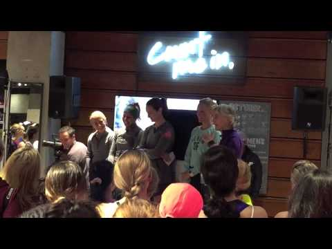 Joan Benoit Samuelson at the Nike Store in SF 2014 Nike Women