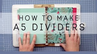 DIY - How to Make A5 Planner Dividers without a Laminator