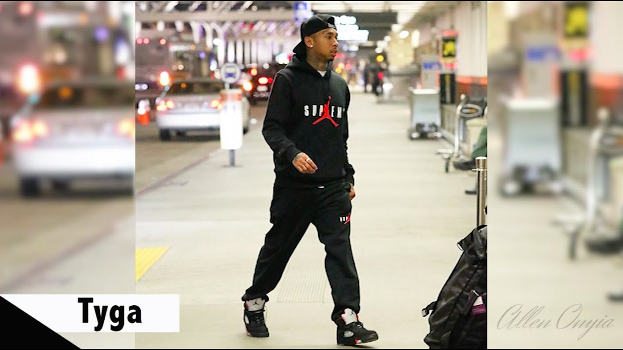 Celebrities Wearing Supreme x Air Jordan 5 Sneakers with Future, Kylie  Jenner and more - YouTube