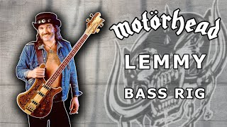 "Lemmy Bass Rig - Motorhead -"" Know Your Bass Player"""