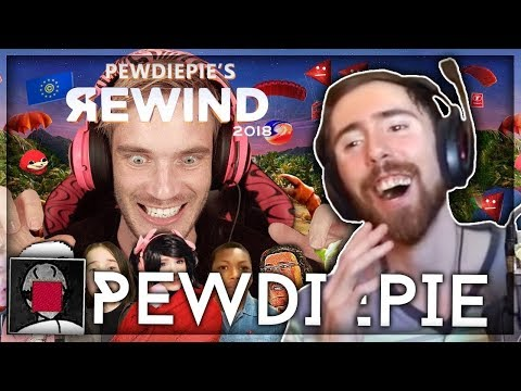 Asmongold Reacts to YouTube Rewind 2018 but its actually good by PewDiePie