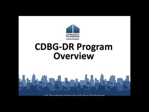 CDBG Webinar: 2016 Overview of CDBG-DR Webinar - 3/15/16