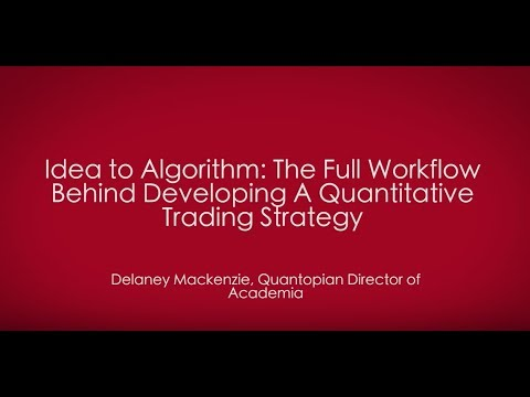 Idea to Algorithm: The Full Workflow Behind Developing a Quantitative Trading Strategy
