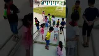 Bamboo dance by chinese kid