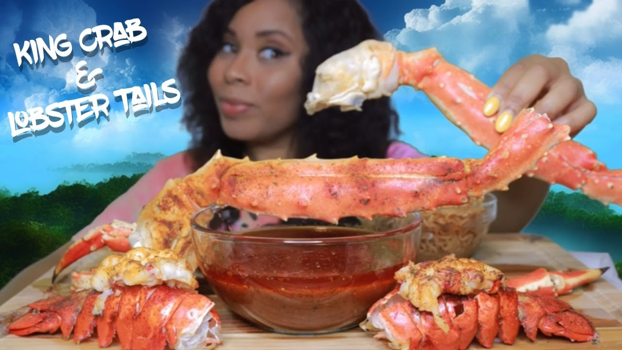 SPICY KING CRAB LEGS & LOBSTER TAILS WITH E'S SPECIAL SAUCE