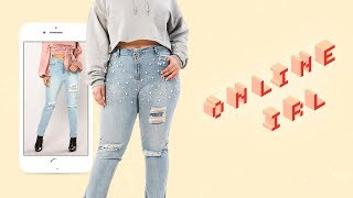 This Is What Fashion Nova Curve Jeans Look Like In Real Life | Online IRL | ELLE