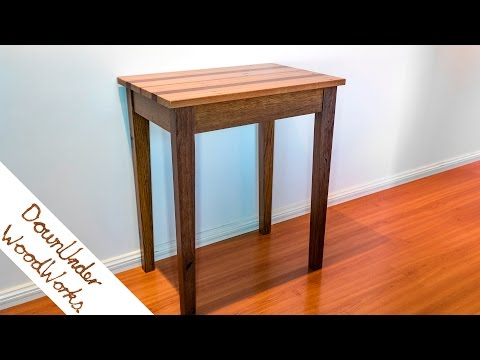 Special project for my mum, reclaimed hardwood side table.