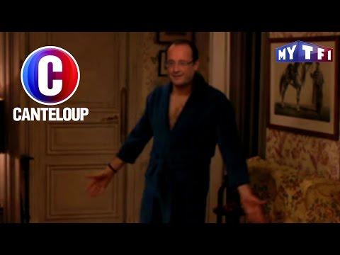C'est Canteloup - François Hollande se retrouve en peignoir devant Julie Gayet
