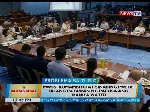 BT: MWSS, kumambiyo at sinabing pwede nilang patawan ng parusa ang Manila Water
