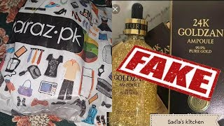 #Daraz.pk #Fake 24k gold serum |ur Comments |Sadia's kitchen