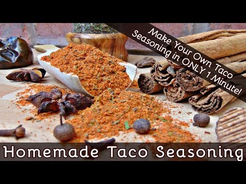 How To Make Taco Seasoning In 1 Minute | Fab Flavors For Your Homemade Mexican Tacos | #165