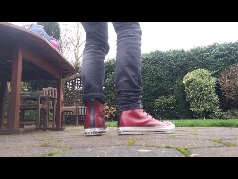 Converse X John Varvatos All star Oxblood On-Feet | 4K | JT Williams