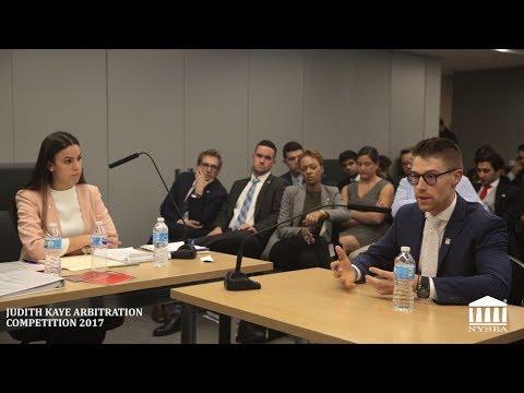 NYSBA - JUDITH KAYE ARBITRATION COMPETITION 2017