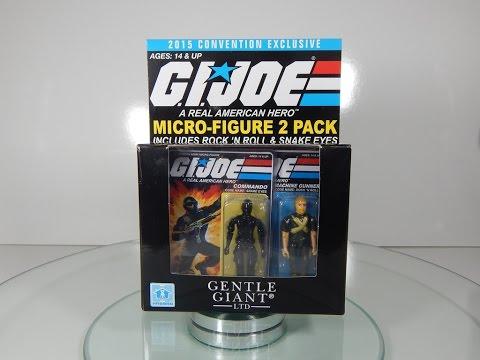 Gentle Giant G.I. Joe Micro Figures 2 pack Snake Eyes & Rock N
