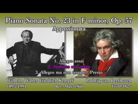 Beethoven: Piano Sonata No. 23 (Appassionata), Kempff (1960) ベートーヴェン 熱情 ケンプ