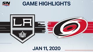 NHL Highlights   Kings vs Hurricanes - Jan. 11, 2020