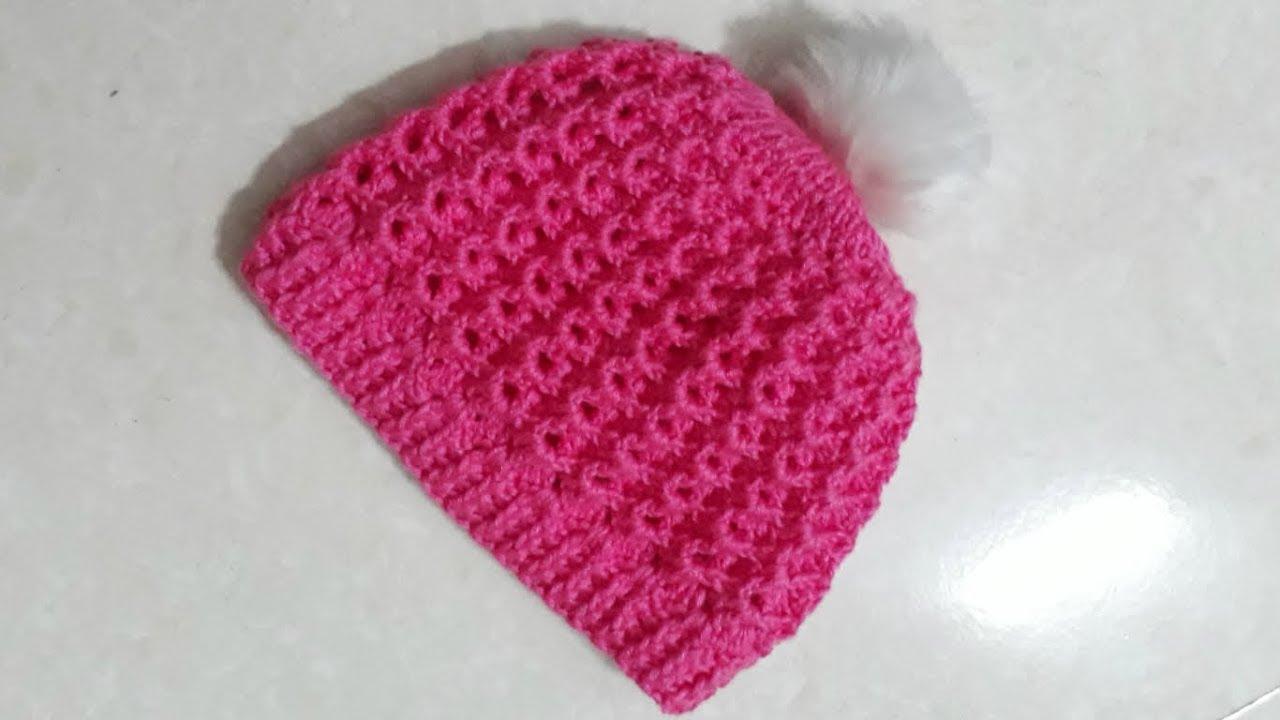 Hướng dẫn móc mũ đơn giản cho bé | How to crochet a simple baby hat | HaNa