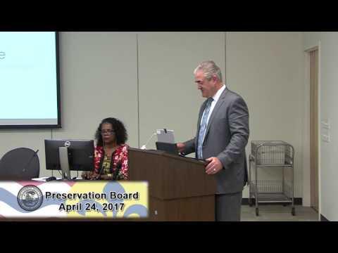 Preservation Board Meeting 4 -24- 17